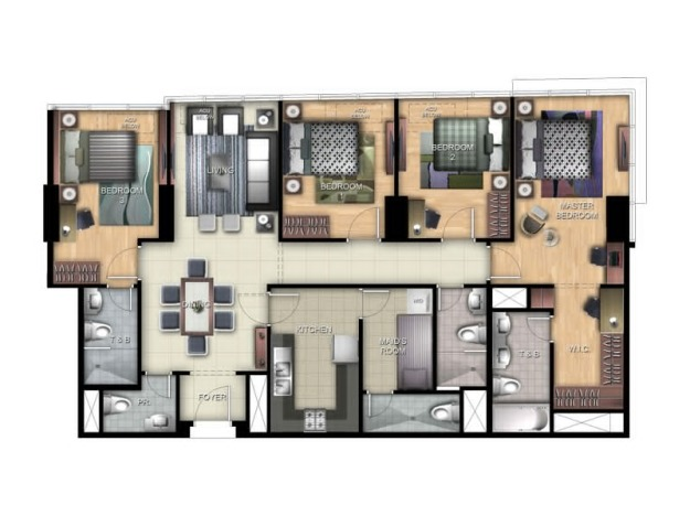 9 Four Bedroom