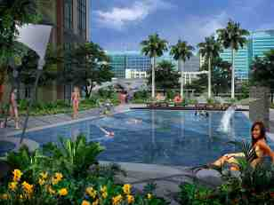 Swimming pool overlooking McKinley Hill