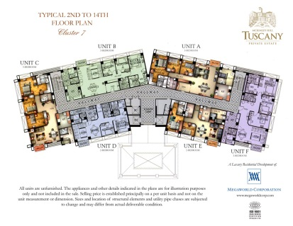 TUSCANY typical 2nd to 14th floor plan Cluster 7