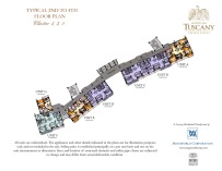 TUSCANY typical 2nd to 4th floor plan Cluster 1, 3, 5