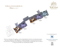 TUSCANY typical 5th floor plan Cluster 1,3,5