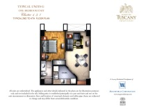 TUSCANY typical unit G one-bedroom unit Cluster 1,3,5 typical 2nd to 4th floor plan