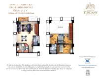 TUSCANY typical units A & L Two-bedroom unit Cluster 2,4,6 Typical 1st to 5th Floor plan