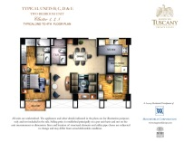 TUSCANY typical units B, C, D & E two-bedroom unit Cluster 1,3,5 typical 2nd to 4th floor plan