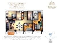 TUSCANY typical units D & E two-bedroom unit Cluster 7 typical 2nd to 14th floor plan