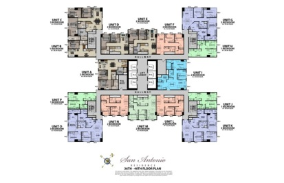 36th - 40th Floor Plan